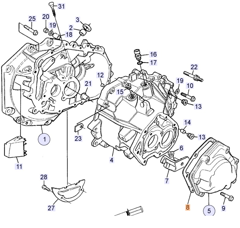 Saab 900 Transmission Diagram