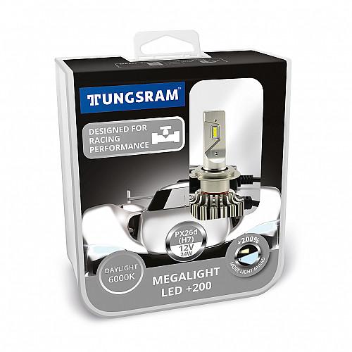 H7 12V 24W Megalight +200 LED Cikkszám: 4460-60450