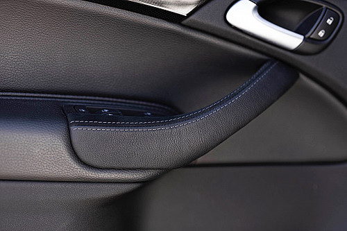 XT-Series front door handle kit, Alcantara, grey stitching, Saab 9-3 2003- Item number: XT-INT015