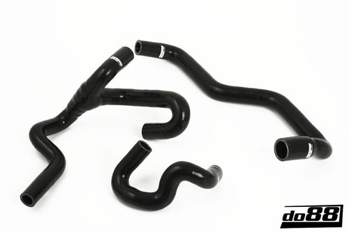 SAAB 9-5 98-10 Heater hoses for cars with water valve Black Item number: DO88-kit121S
