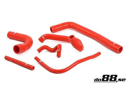 SAAB 9000 Turbo 94-98 Coolant hoses Red Item number: DO88-kit16R