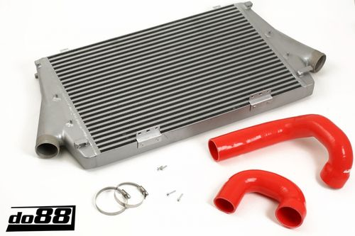 SAAB 9-3 2.0t 2003- Intercooler, red hoses, Automatic Item number: 65-ICM-110-I4-A-R