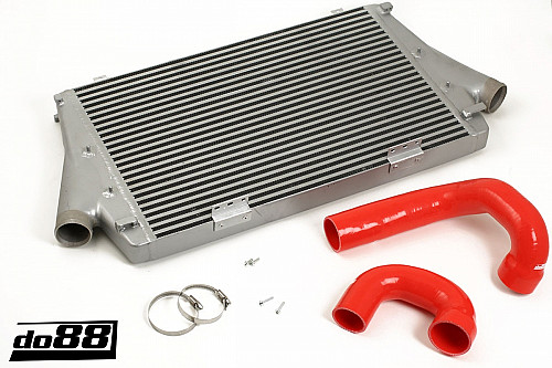 SAAB 9-3 2.0t 2003- Intercooler, red hoses, Manual Item number: 65-ICM-110-I4-M-R