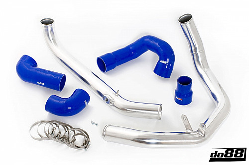 SAAB 9-3 2.0T 2003- do88 IC Pressure pipes with Blue hoses Item number: DO88-TR120B