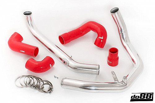 SAAB 9-3 2.0T 2003- do88 IC Pressure pipes with Red hoses Item number: DO88-TR120R