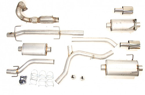"JT 3"" Complete w/ sport catalyst, Saab 9-5 Twin pipe Item number: 11-JT64-KTWSK3"