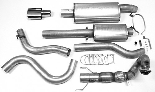 "JT 3"" Full exhaust, Saab 9-3 I Aero/Viggen with race cat 2 silencers Item number: 11-JT62-KVRK2"