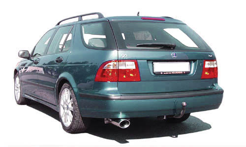 Maptun cat-back, Saab 9-5 I 1998-2005, models with hidden tailpipe Item number: 04-14014