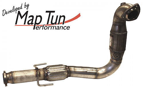 Maptun complete exhaust, round tailpipe 61 L tank, Saab 9-3 II 1.8/2.0t/T Item number: 04-13047H
