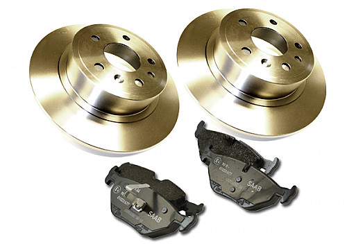 Rear Brake Discs & Pads Kit, Saab 9-5, Solid Disc 99- Item number: 96-BKIT4