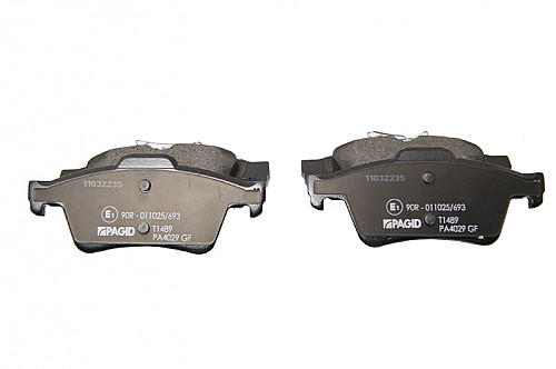 Rear Brake Pads, Saab 9-3 II Solid/Vented Item number: 05-PT1489