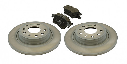 Rear Brake Discs & Pads Kit, Saab 9-3 II, 277MM Solid Item number: 96-BKIT15
