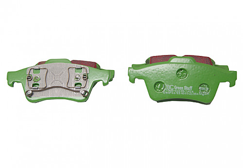 Rear Brake Pads Greenstuff, EBC Saab 9-3 II Solid/Vented Disc Item number: 29-DP21354