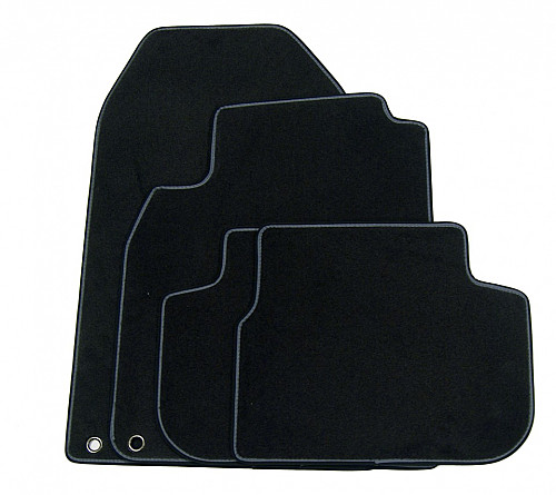Textile Mat Set Black W/ Piping, Saab 9-3 Cab 03- LHD Item number: 1012824109