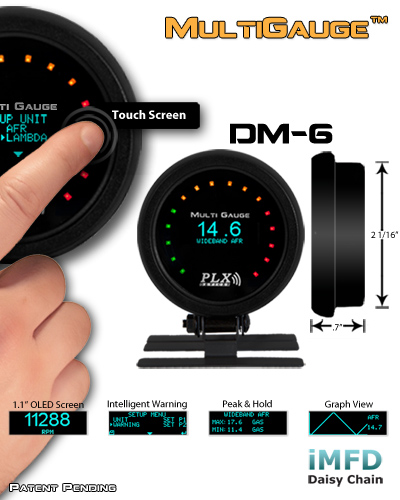 DM-6 Touch Screen Multi Gauge Item number: 88-108