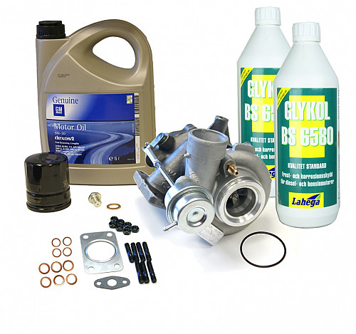 Turbo GT17, complete kit (Blue glycol) Item number: 96-560913BK
