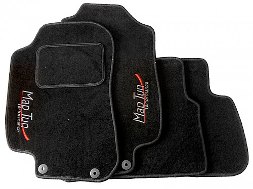 Textile Mat Set Black, Maptun, Saab 9-3 II 08-12, black Item number: 01-70103