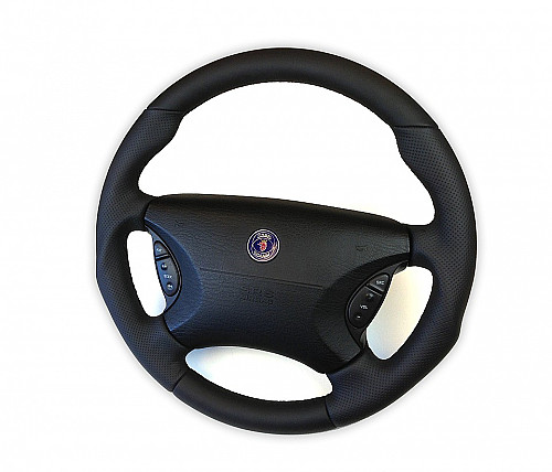 Maptun leather steering wheel Saab 900/9-3/9-5 98-05 Item number: 01-50302
