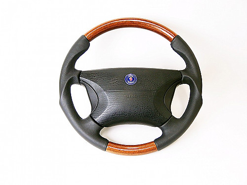 Maptun leather/wood steering wheel Saab 9000 1994-1998 Item number: 01-50300W