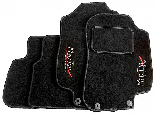 Textile Mat Set Black, Maptun, Saab 9-5 98-07, black RHD Item number: 01-70104RHD