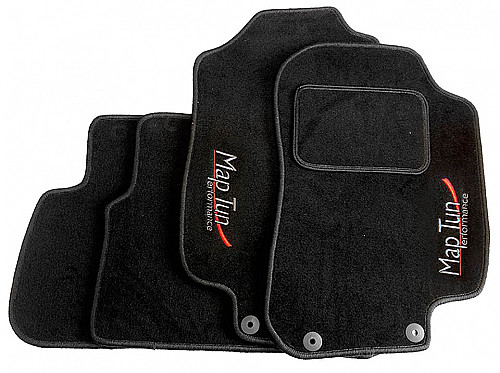 Textile Mat Set Black, Maptun, Saab 9-3 II 08-12, black RHD Item number: 01-70103RHD