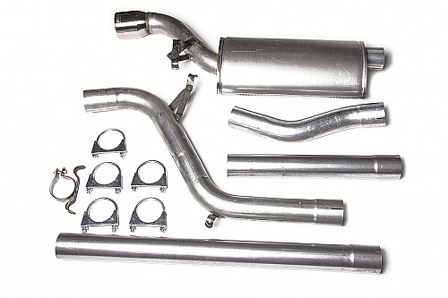 "JT 3"" Full exhaust, Saab 9000 CS/E without catalytic converter, 1 silencer Item number: 11-JT60-K4-1"