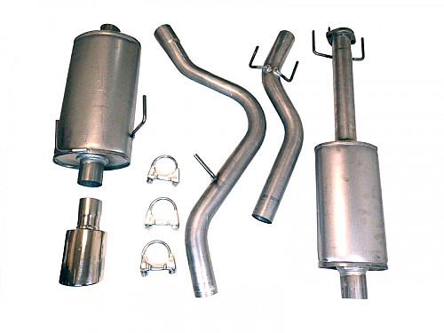 Replacement exhaust system, Saab 9-5 98-10, Aero 00-03 Item number: 11-9600-h2