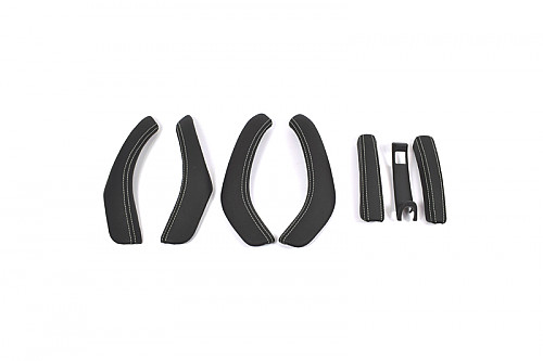 XT-Series interior door handle kit, White stitches, Saab 9-3 2003- Item number: XT-INT000W