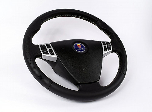 Maptun one layer leather steering wheel, Saab 9-3 03-05 Item number: 01-50304B