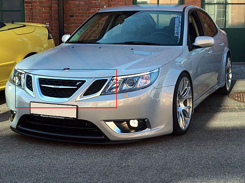 Hirsch Performance Honeycomb Upper Grille kit, Saab 9-3 2008- Item number: 1016848006600