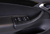 XT-Series front door handle kit, Alcantara, grey stitching, Saab 9-3 2003-