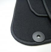 Textile Mat Set Black, Saab 9-3 03-12