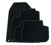 Textile Mat Set Black W/ Piping, Saab 9-3 Cab 03- LHD