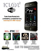 Kiwi 2 Wifi - iPhone alkalmazás a motor adatok megjelenítéséhez