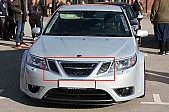 Hirsch Performance Honeycomb Upper Grille kit, Saab 9-3 2008-