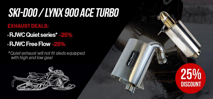 SKI-DOO/LYNX 900 ACE Turbo Exhaust Deals
